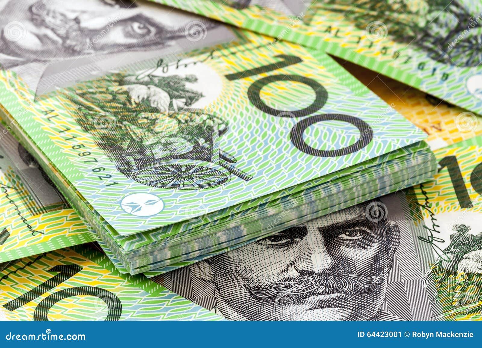Australian cem contas de dólar