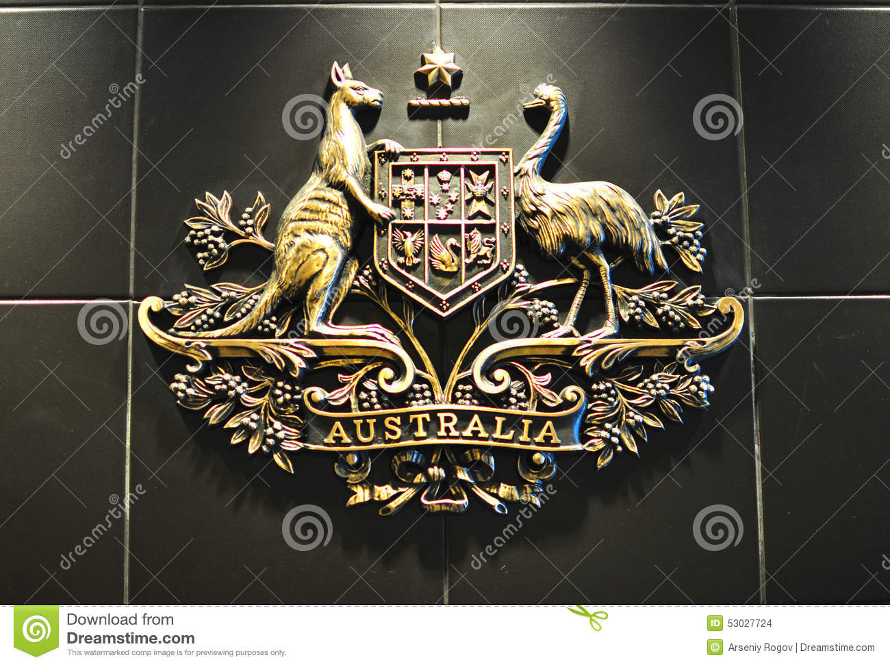 australian coat of arms editorial stock image  image of consulate