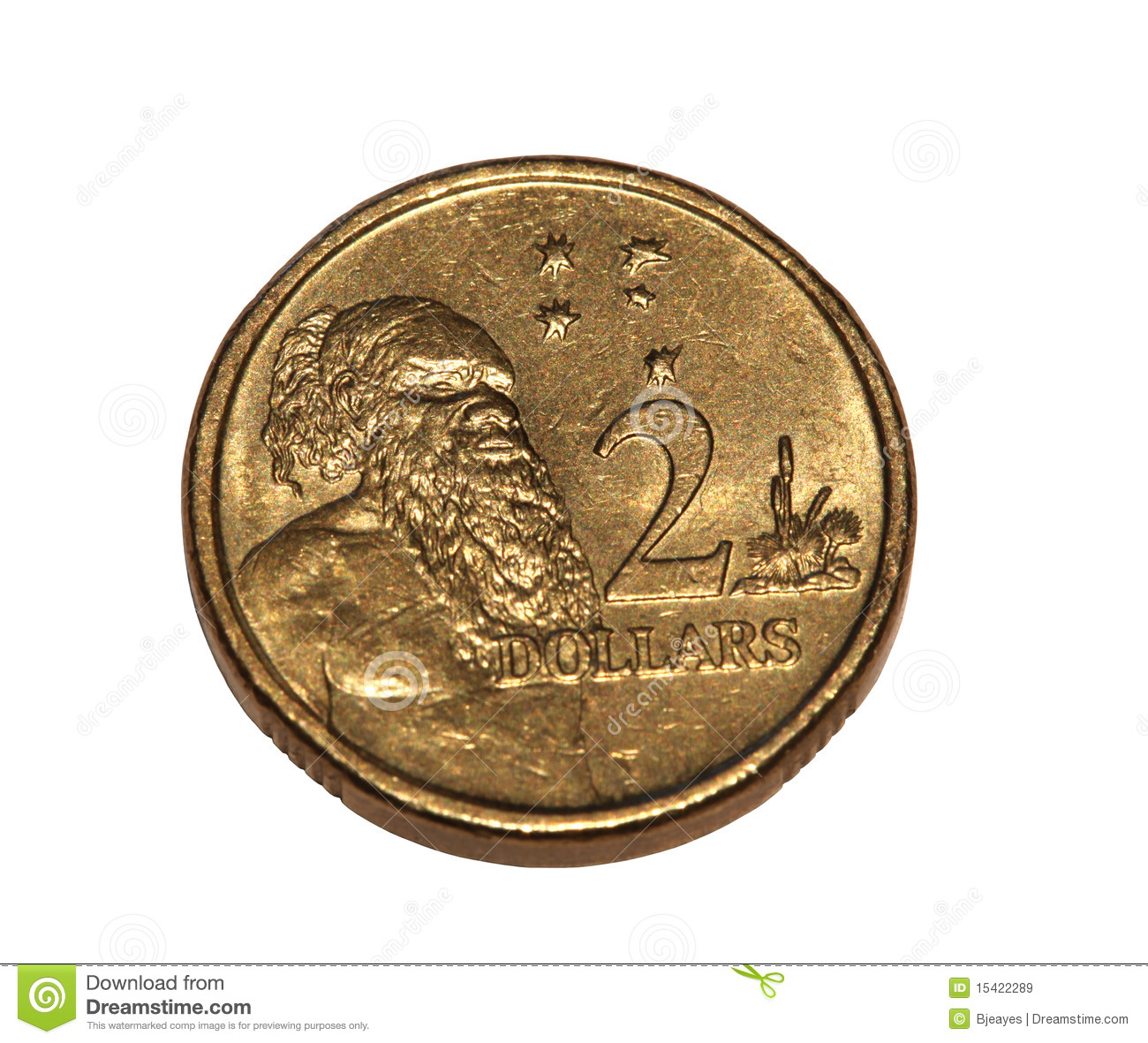 Australian coin stock image. Image of currency, white ...