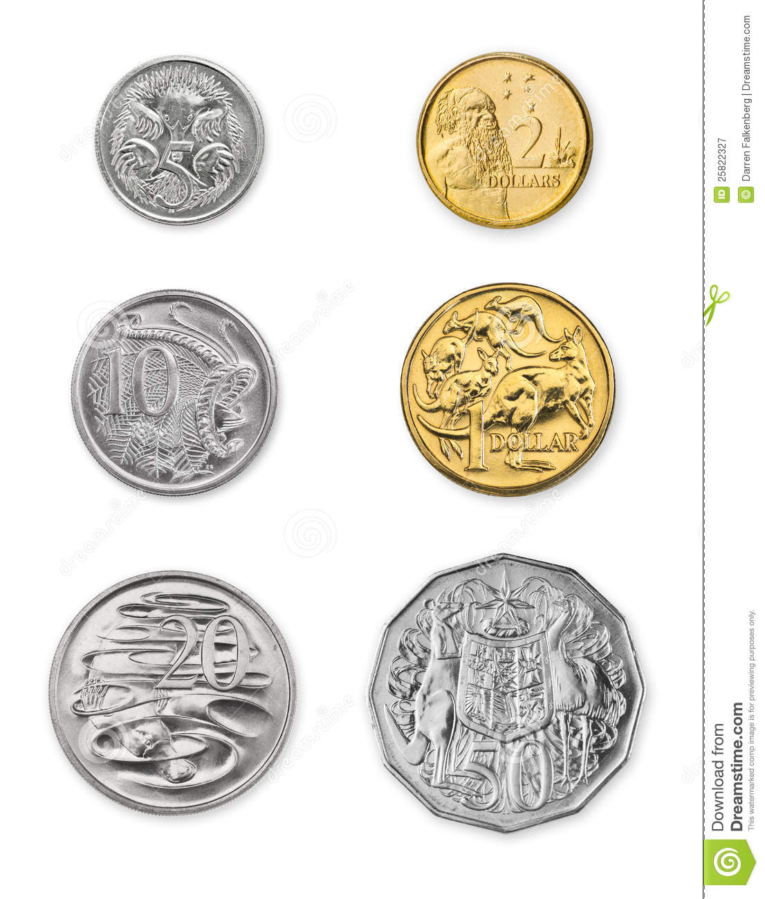 Australian Coins Royalty Free Stock Photography Image