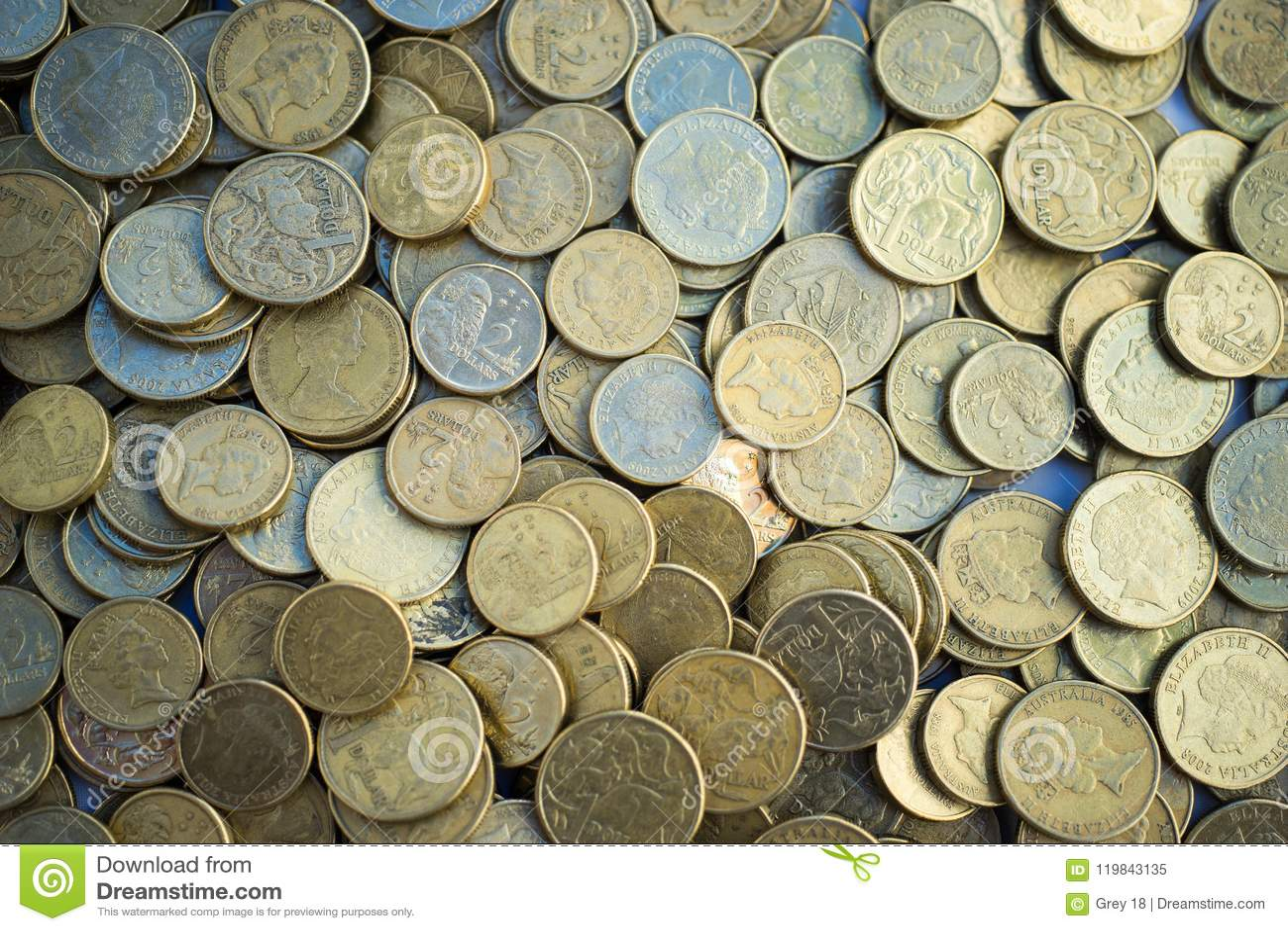 Australian Coins Closeup