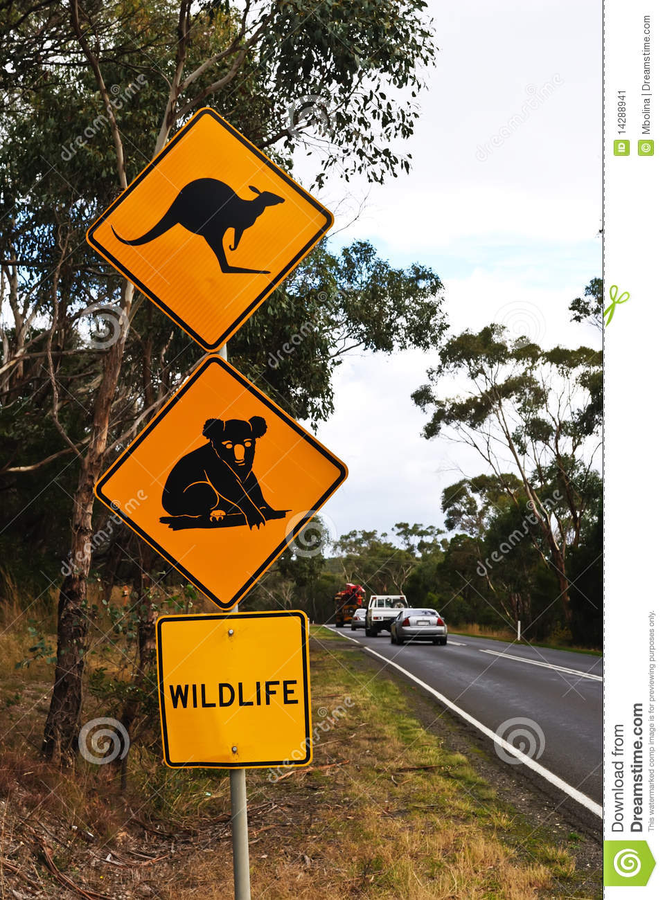 Australian Country Road Sign Stock Image Image 14288941