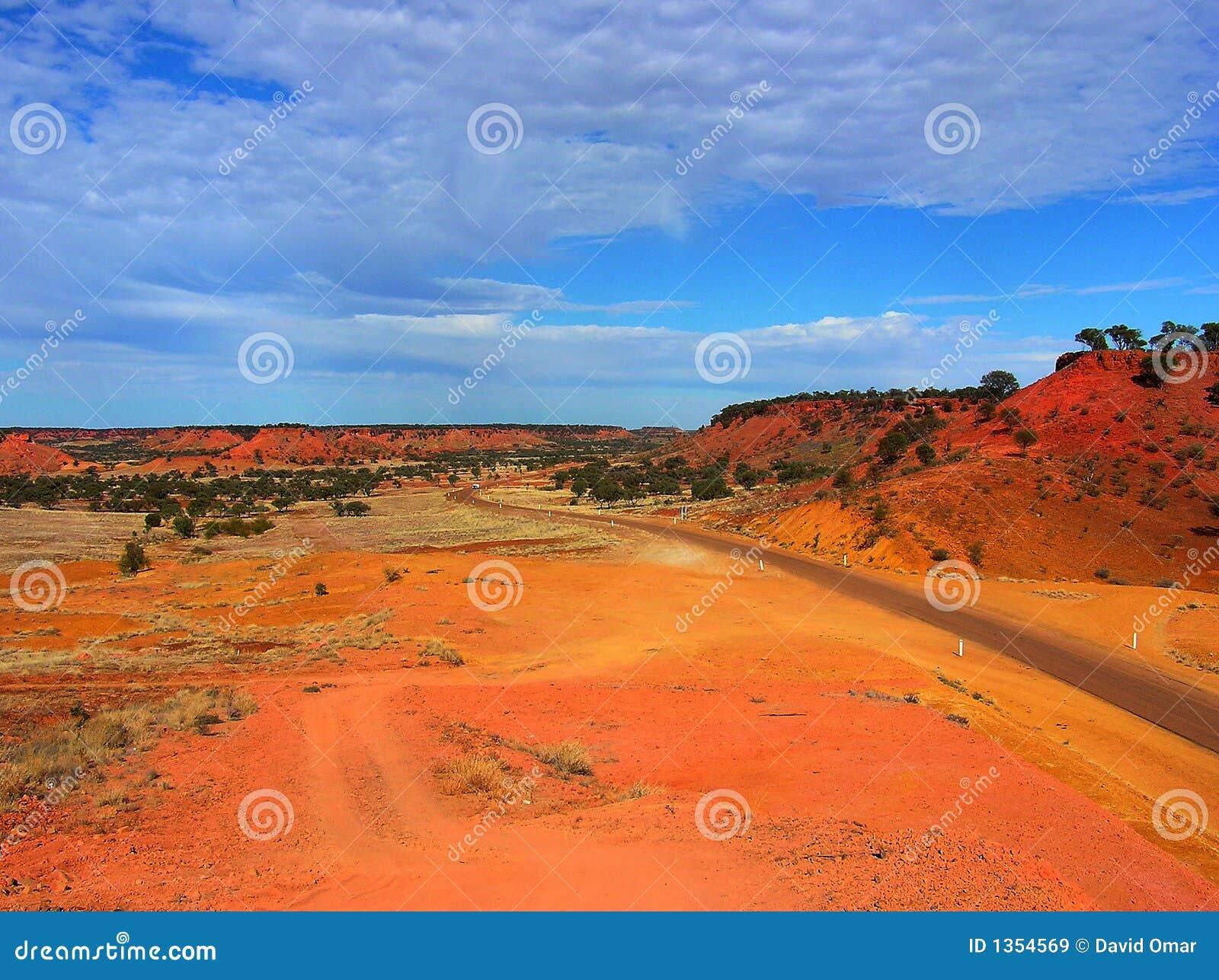 Australian Desert Scene Royalty Free Stock Images Image