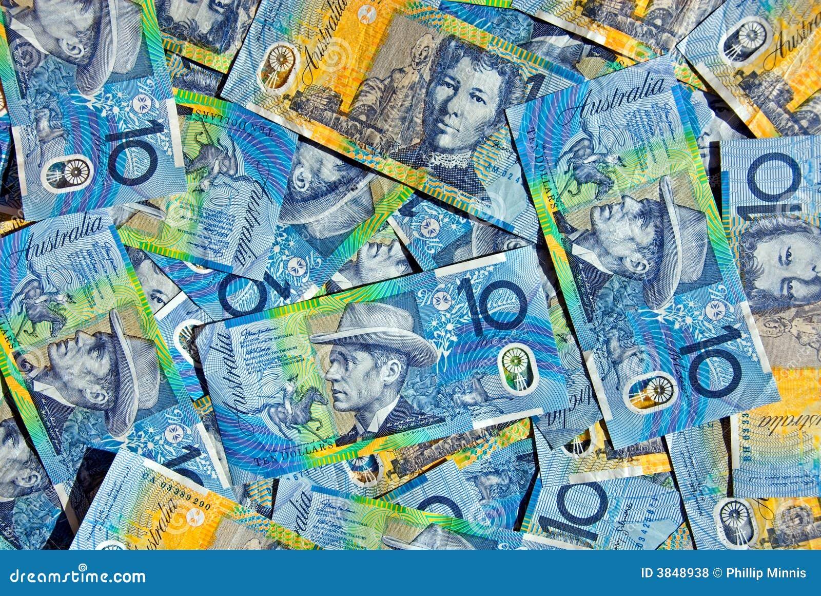 Australian dez notas do dólar