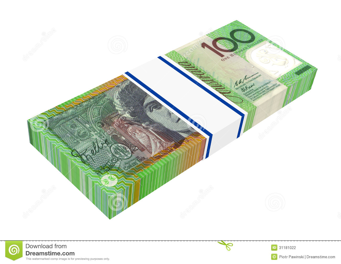 Australian dollar isolated on