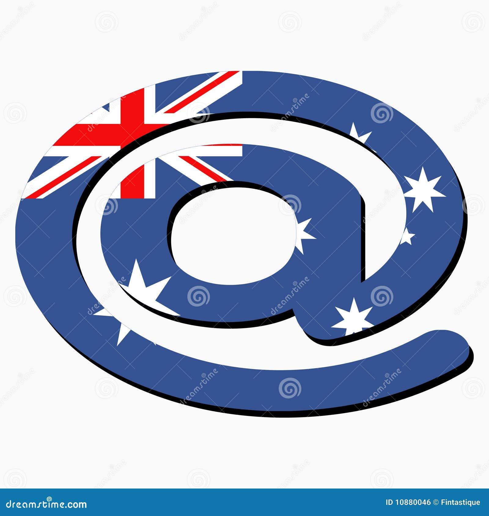 Australian E Mail Address At Symbol Stock Vector Illustration Of