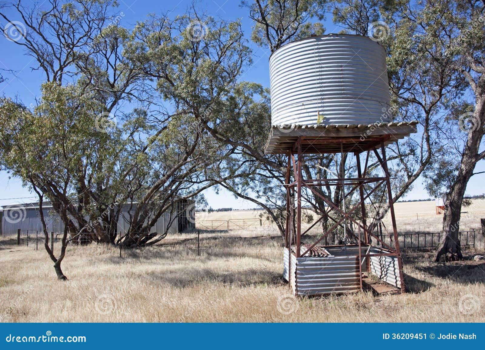 Australian Farmland Backyard Stock Image Image Of Tank Farm 36209451