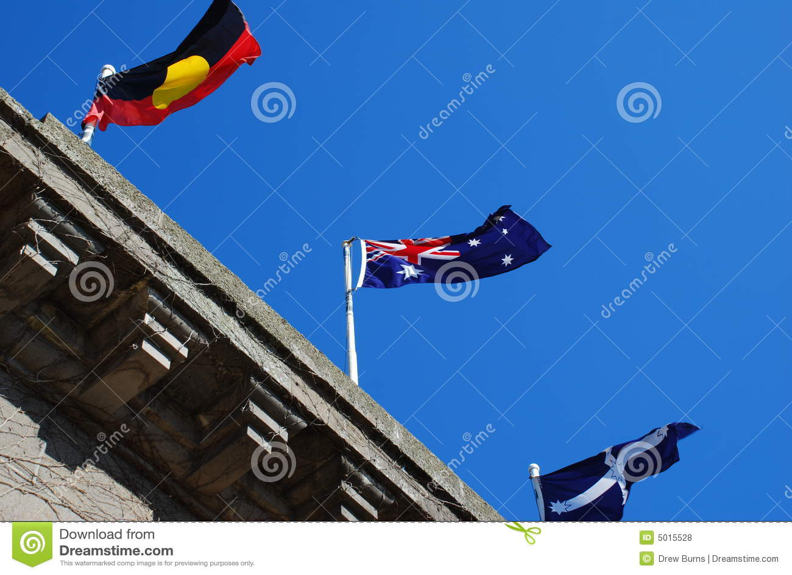 australian flag eureka flag aboriginal flag royalty free stock