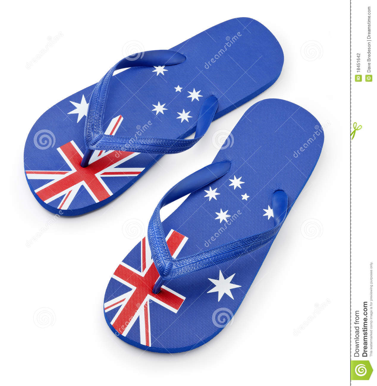 Australian Flag Thongs Sandals Stock Photography - Image: 18451642