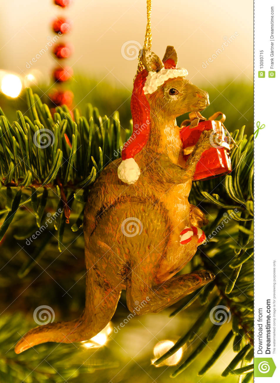 Australian kangaroo christmas tree royalty free stock for Australian christmas decoration