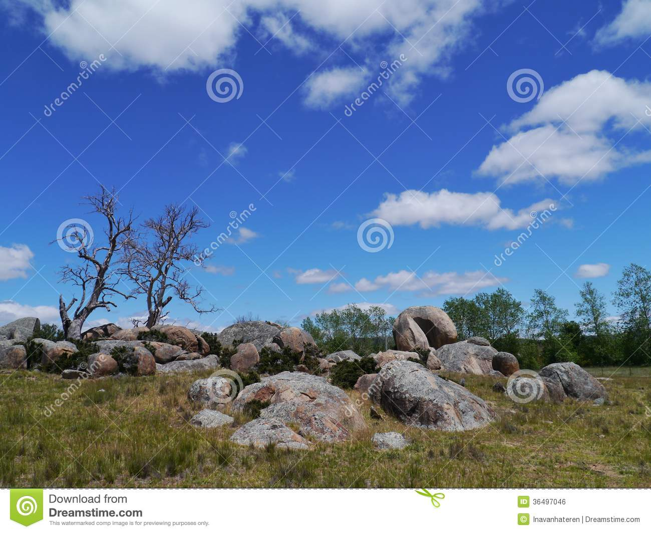 Australian landscape with a blue sky royalty free stock for South australia landscape