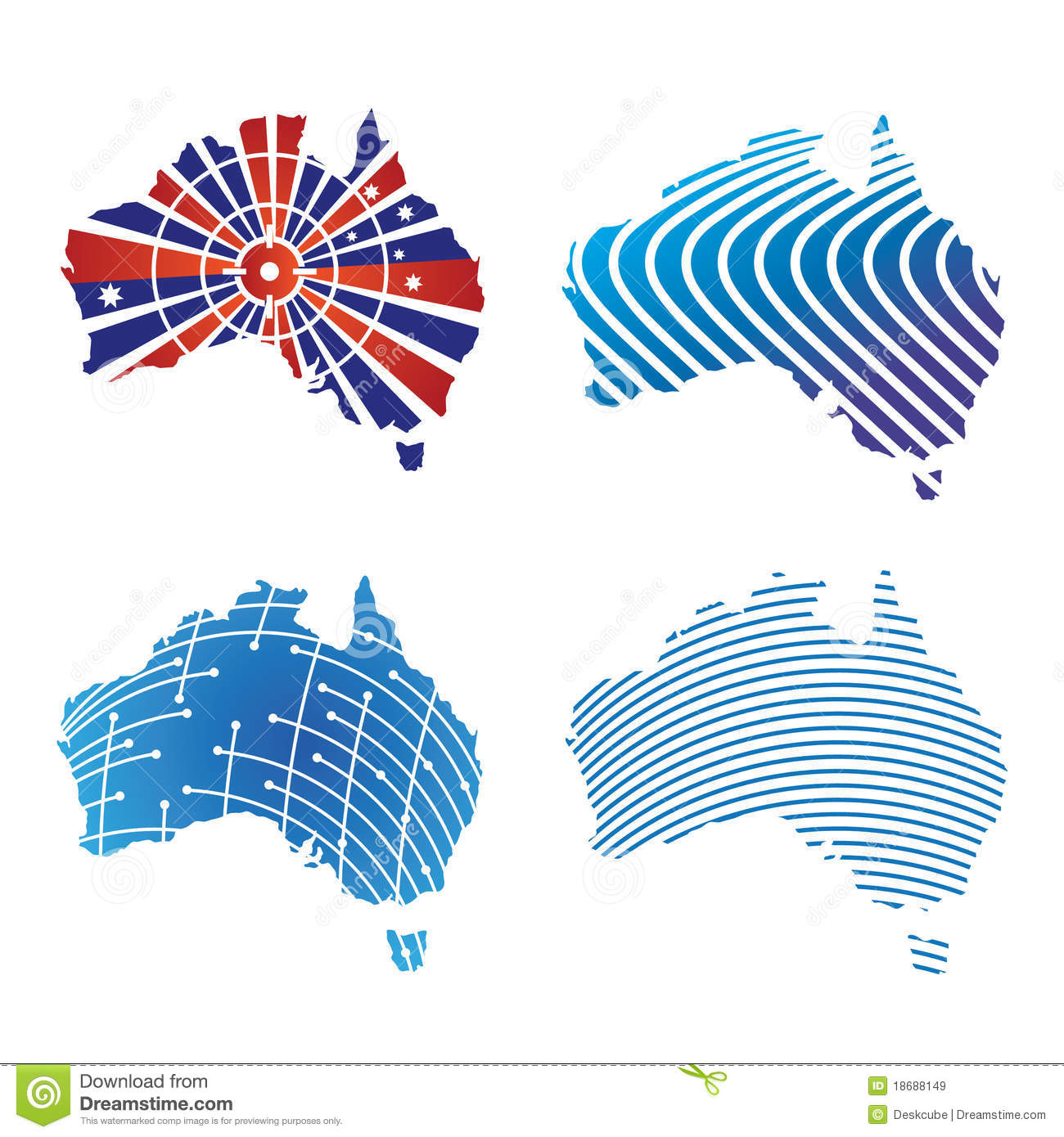 australian map logos stock vector illustration of pattern 18688149