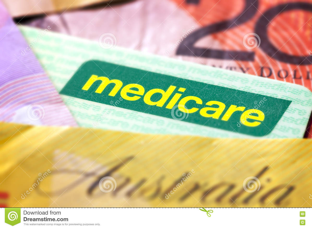 Australian Medicare Card And Money Royalty Free Stock Photography Medicare  Card Stock Photos, Images,
