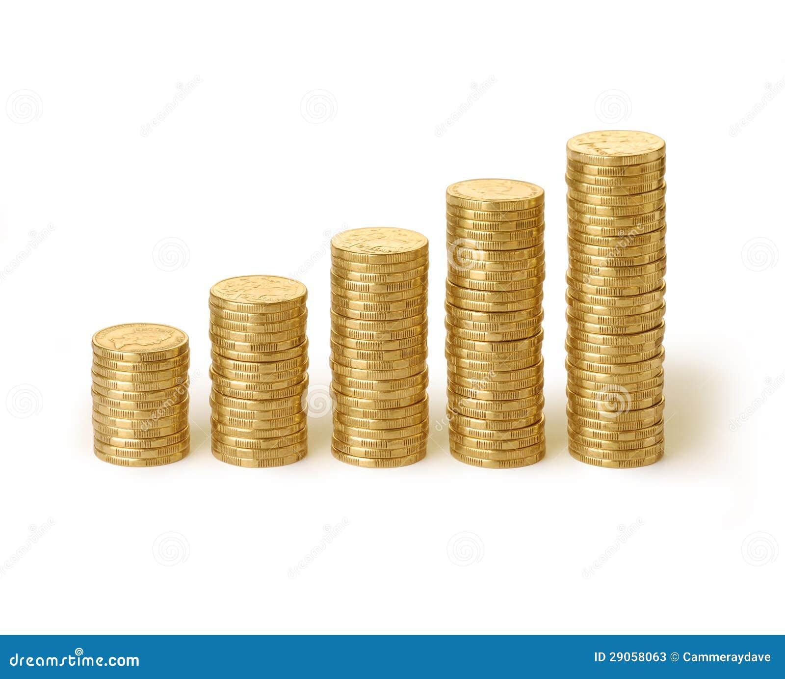 Australian Money Coins Stacks Dollars