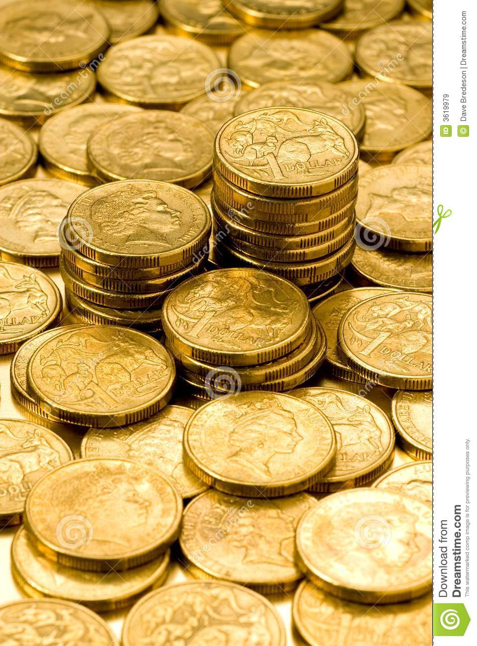 Australian Money Dollars Coins Royalty Free Stock Images Image 3619979