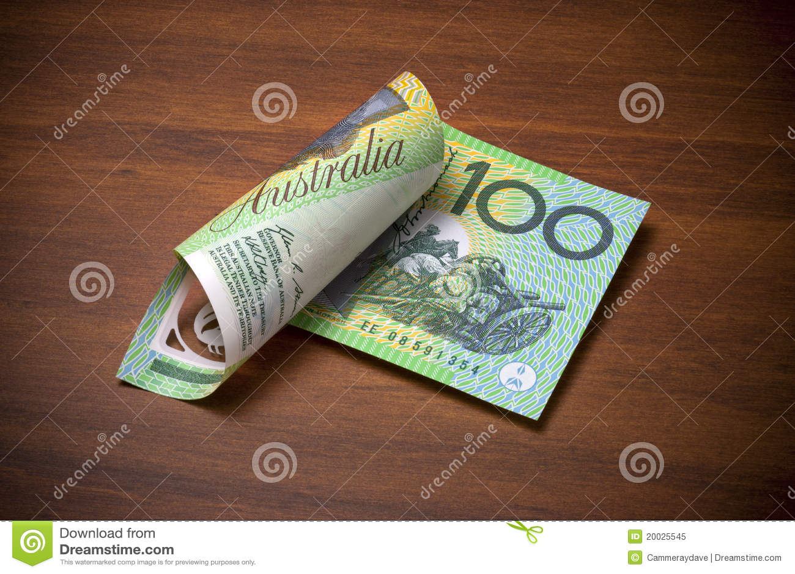 Australian One Hundred Dollar Bill Stock Image - Image ...