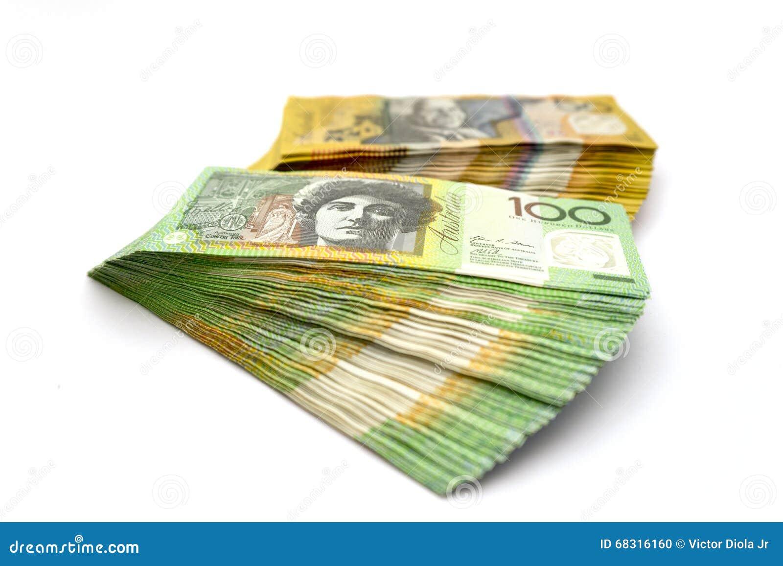 Download Australian One Hundred Dollar Bills And Fifty Dollar Bills Stock Photo - Image of australia, green: 68316160