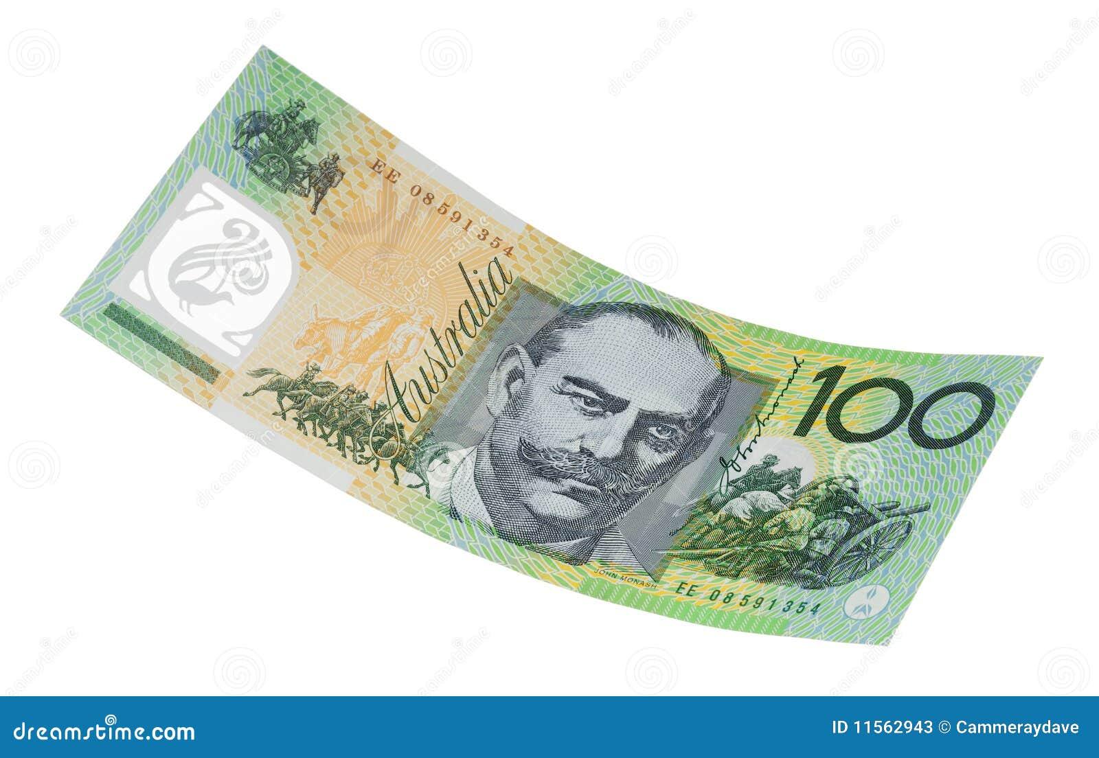 Australian One Hundred Dollar Note Isolated Stock Photos ...