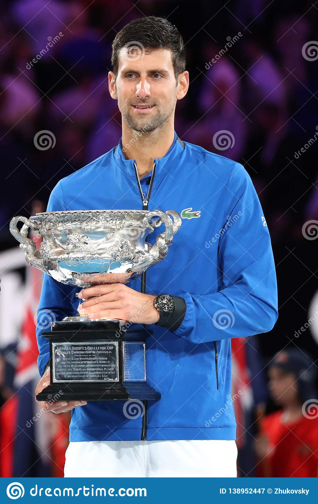 2019 Australian Open Champion Novak Djokovic Of Serbia During Trophy Presentation After Men S Final Match At Rod Laver Arena Editorial Photography Image Of January Champion 138952447