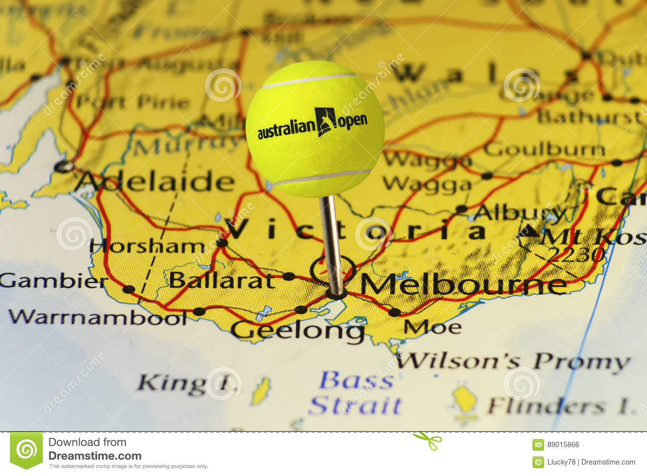 Map Of Australia 2016.2016 Australian Open Official Tennis Ball As Pin On Map Of