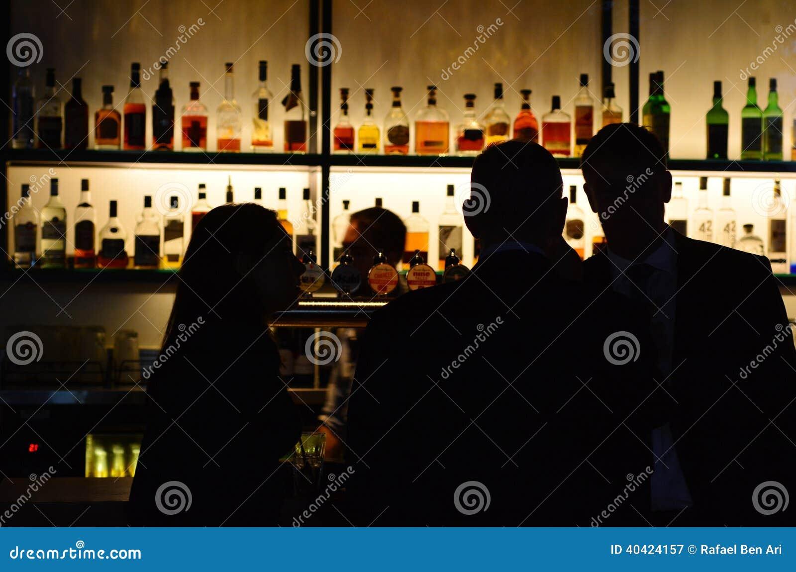 Australian people in a bar