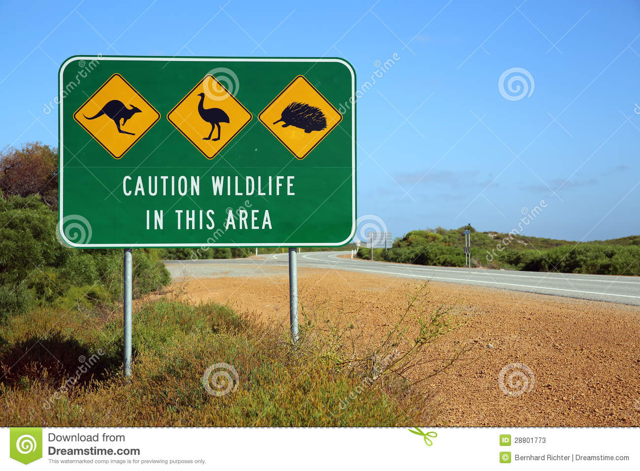 Australian Road Sign Stock Photos - Image: 28801773