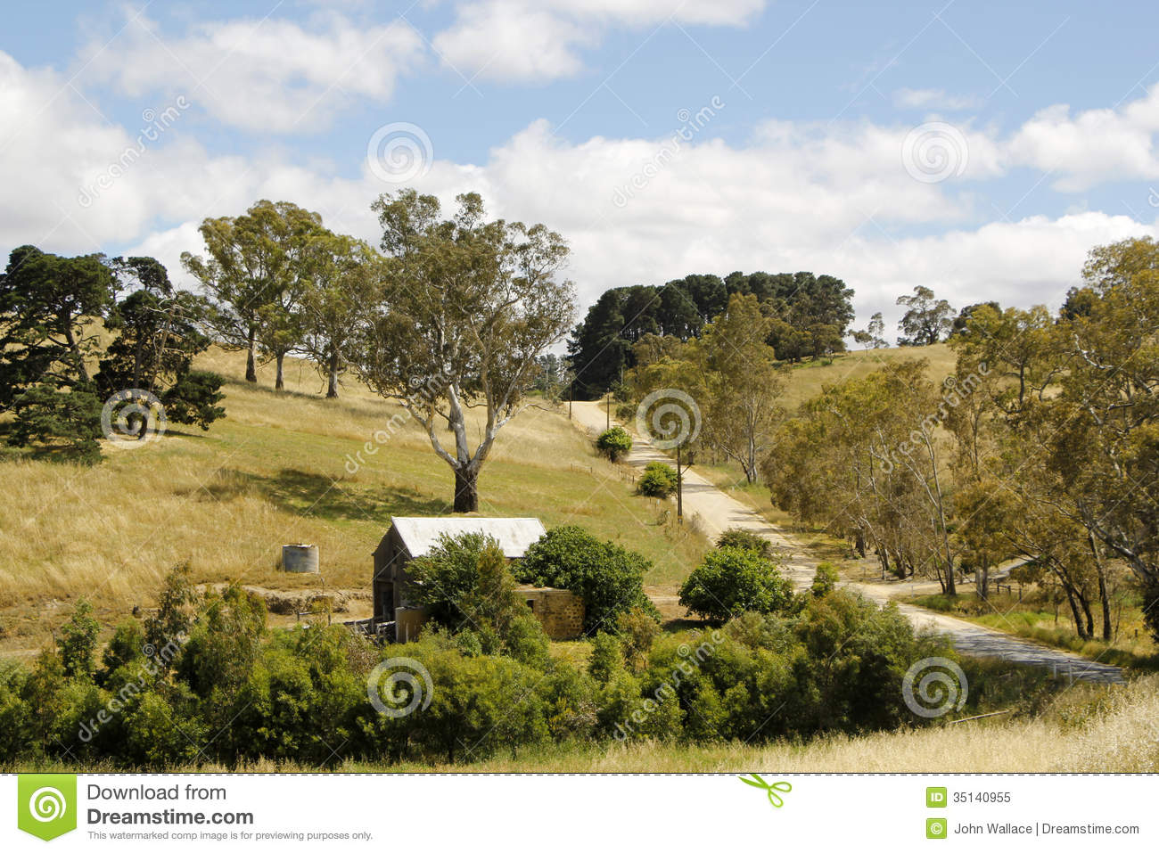 Australian rural landscape royalty free stock photo for Landscape design adelaide hills