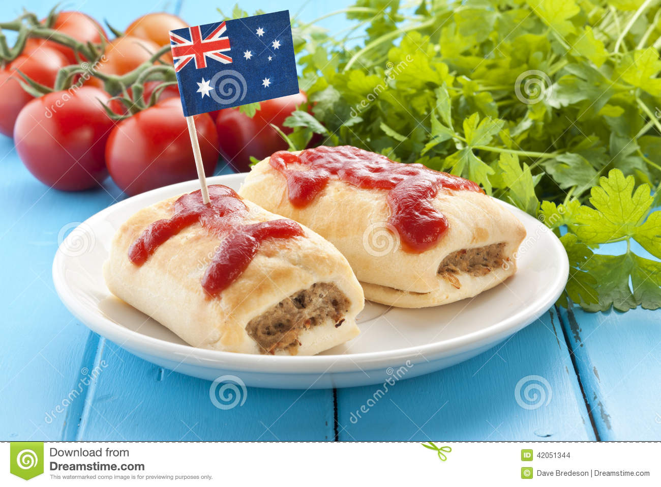 australian sausage roll food stock photo image 42051344. Black Bedroom Furniture Sets. Home Design Ideas