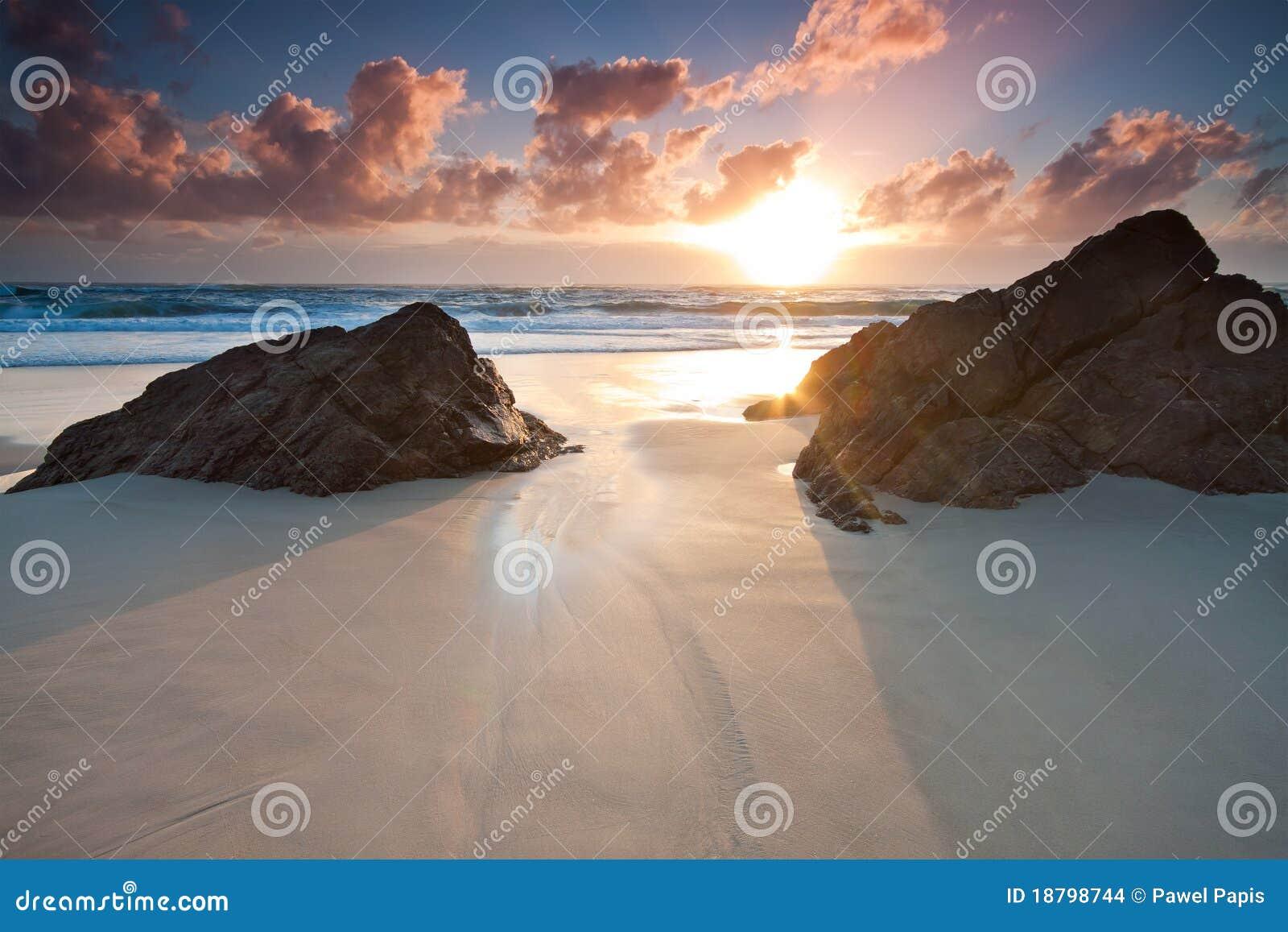 Australian seascape at sunrise
