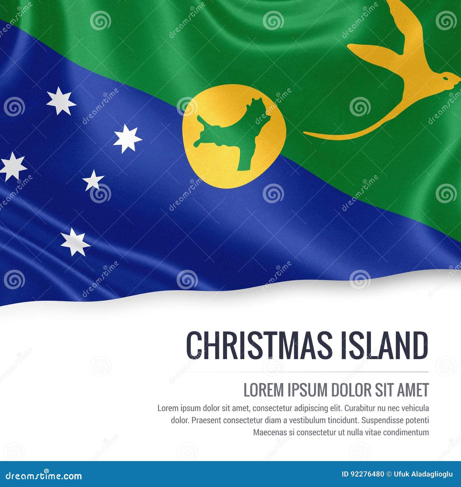 Australian State Christmas Island Flag Stock Illustration