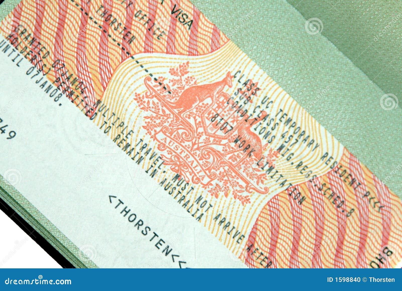 Australian Visa Stock Photo - Image: 1598840