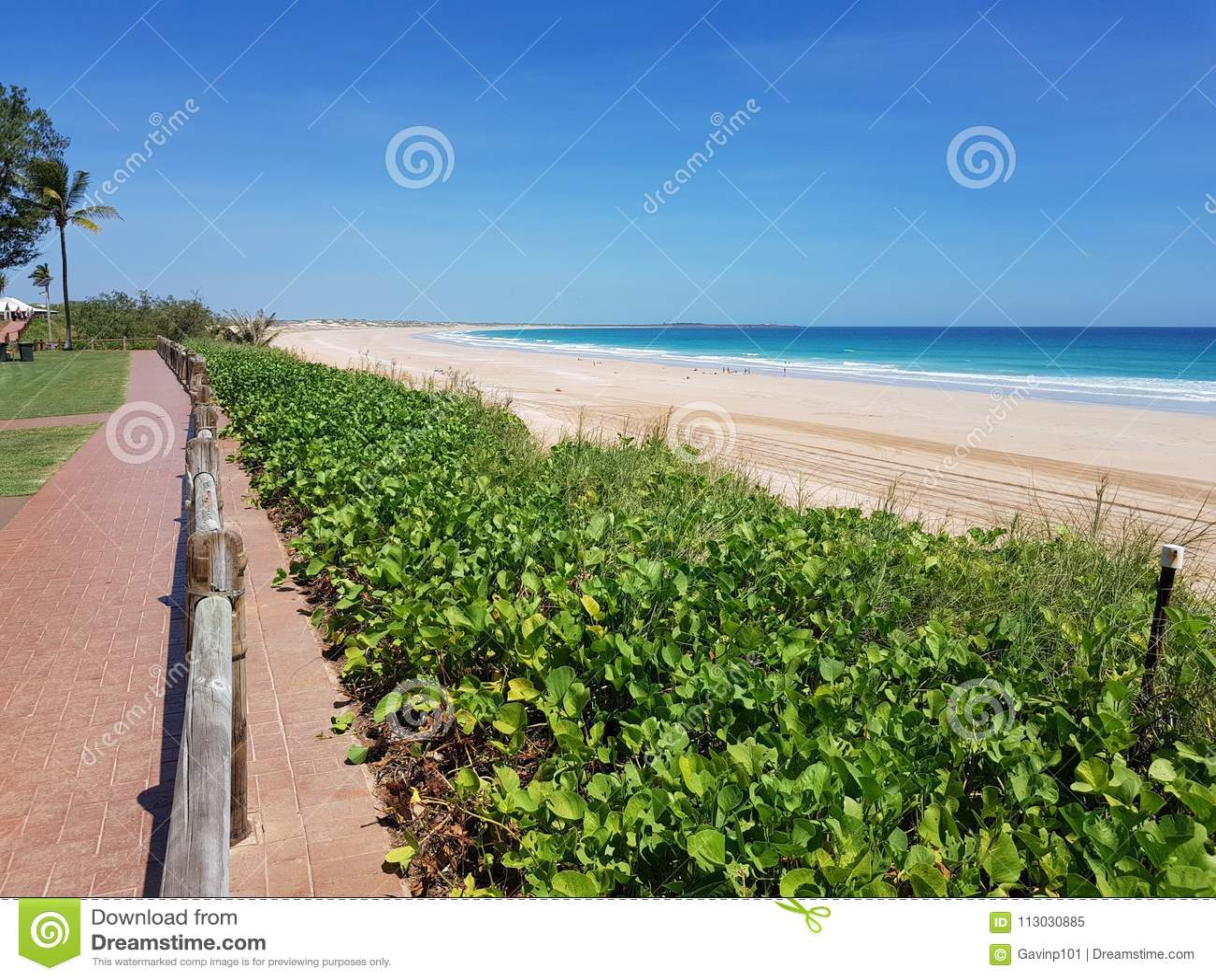 Australiano de Broome de la playa del cable interior