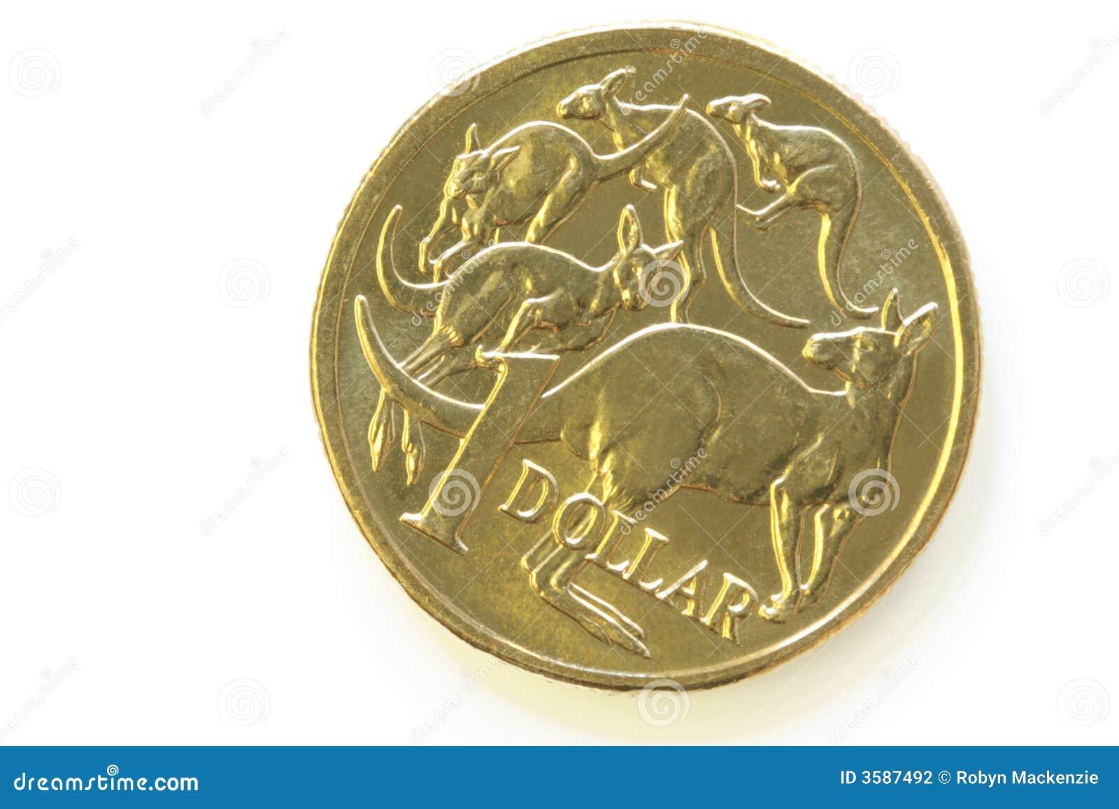 Australiano una moneta del dollaro