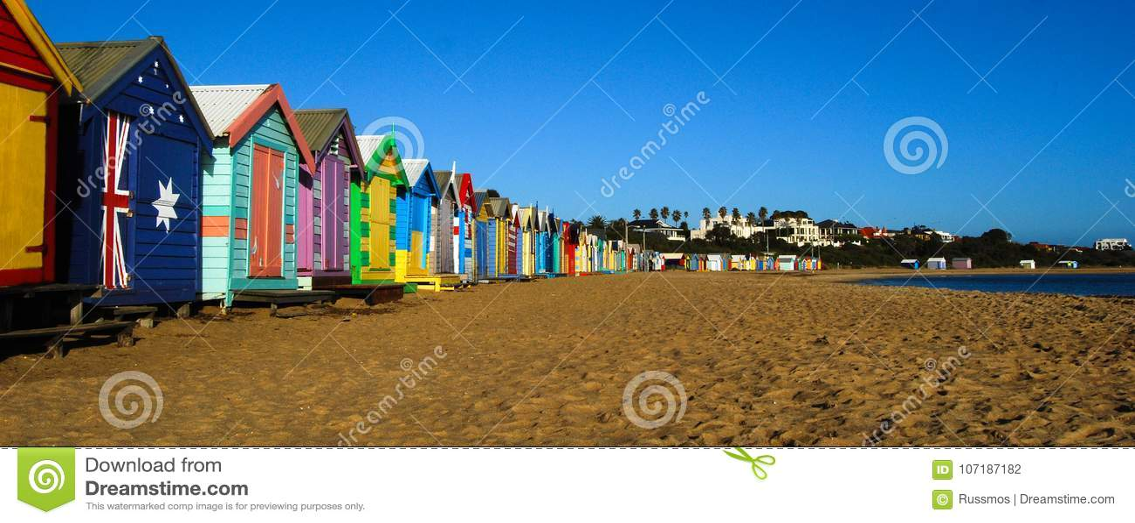 Australie de Melbourne de plage de Brighton