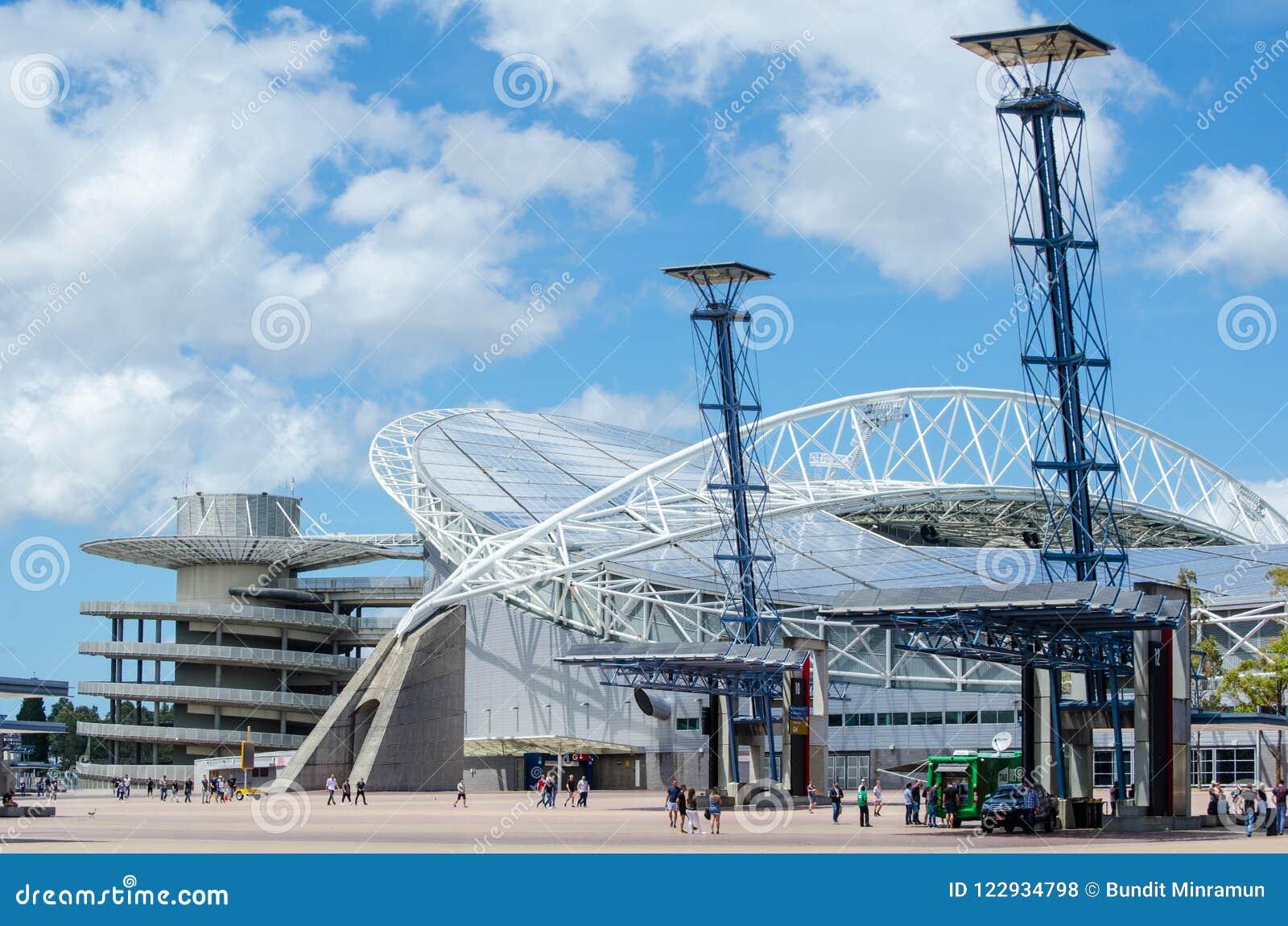 Australie de stade, commercialement connue sous le nom de stade d ANZ situé dans Sydney Olympic Park