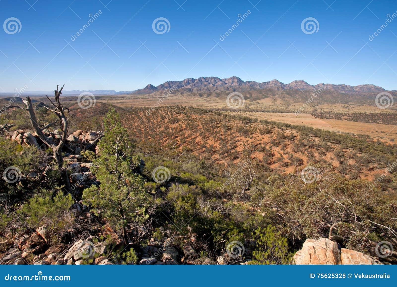 Australie du sud de chaînes de Flinders de livre de Wilpena