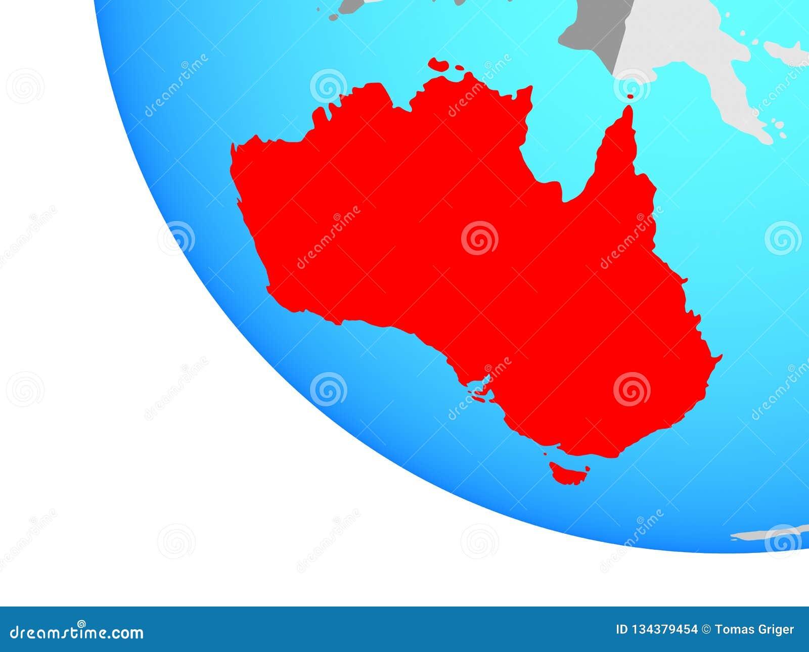 Australie sur le globe