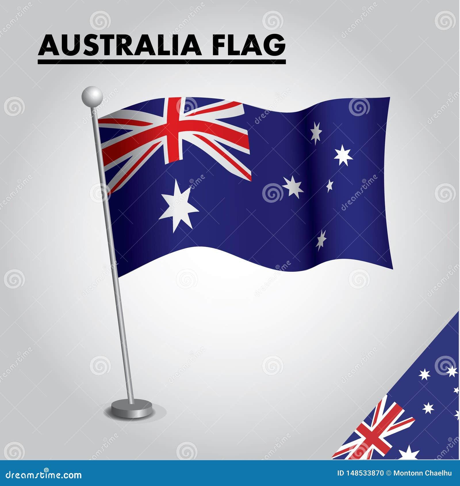 Australien flagganationsflagga av Australien på en pol