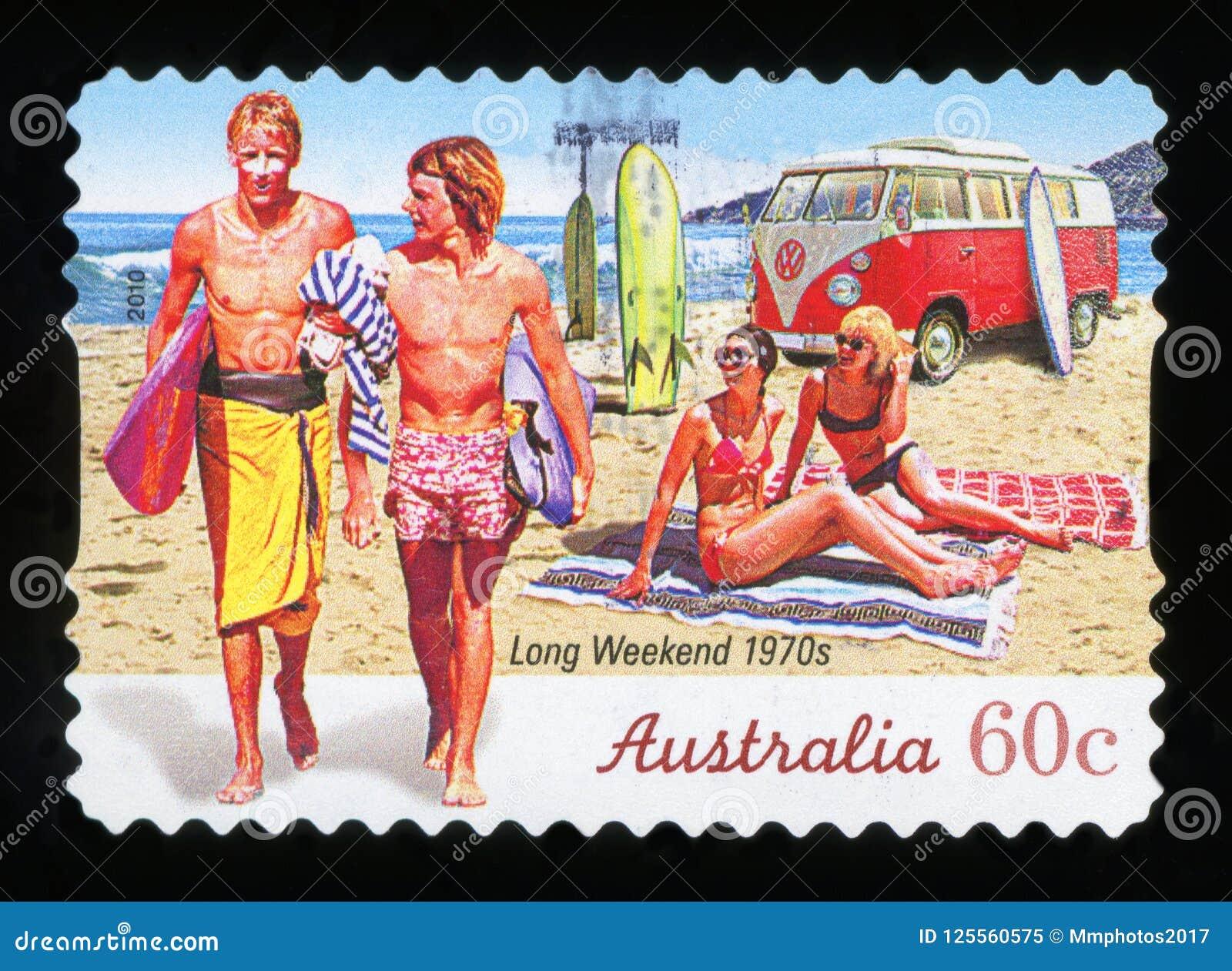 AUSTRALIEN - portostämpel