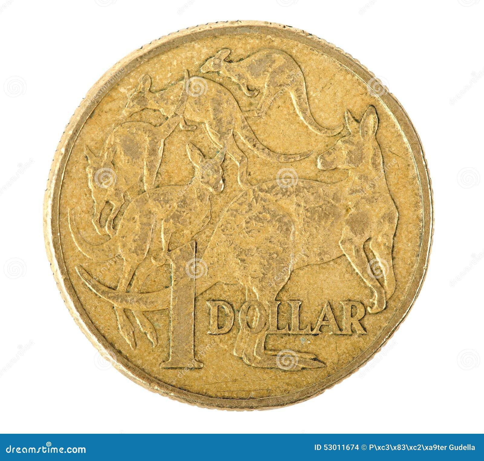 Australier 1 Dollar Münze Stockfoto Bild Von Metall 53011674