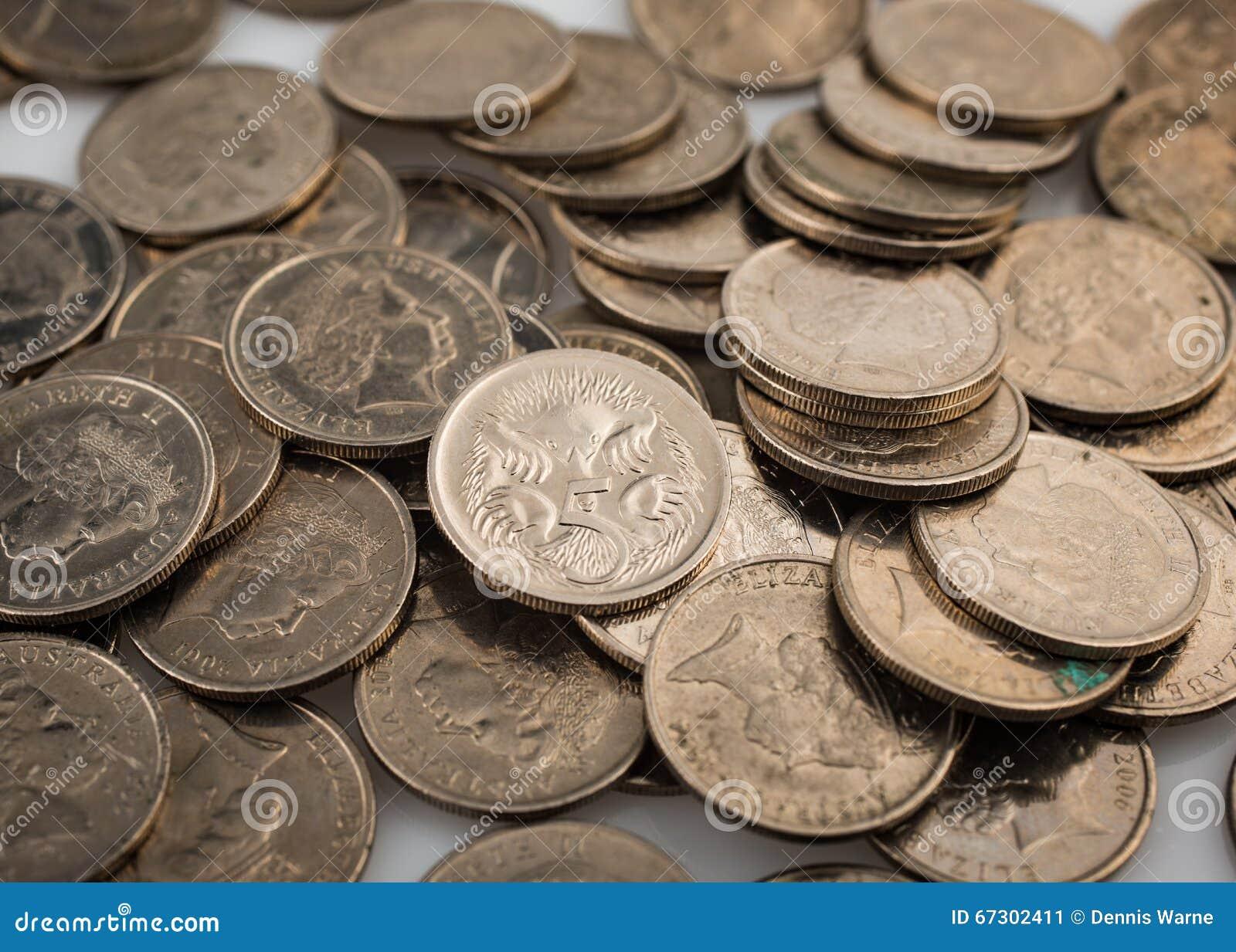 Australier Fünf Cent Münzen Stockbild Bild Von Cents Geld 67302411