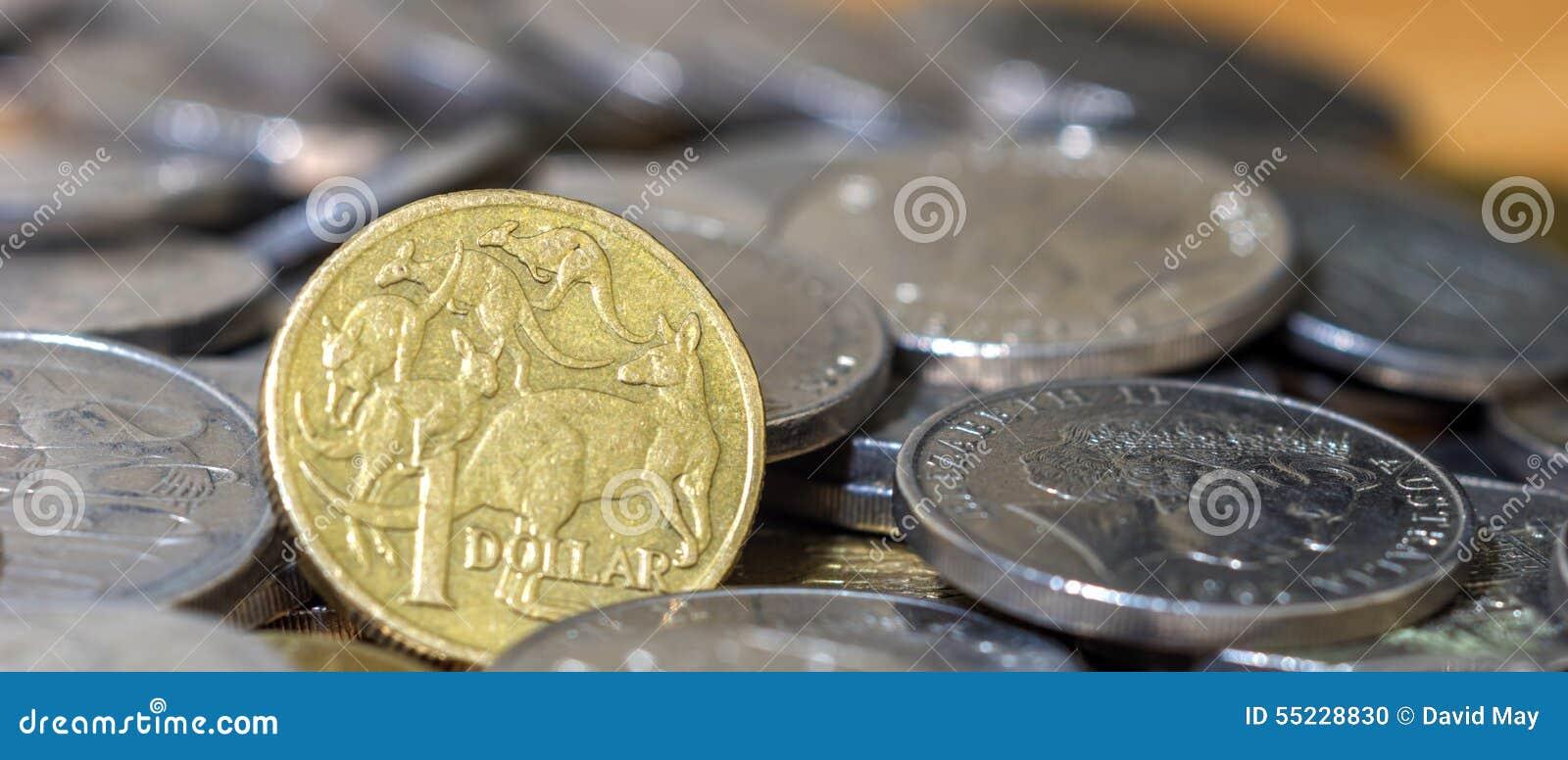 Australier mynt för en bunt för dollarslut övre