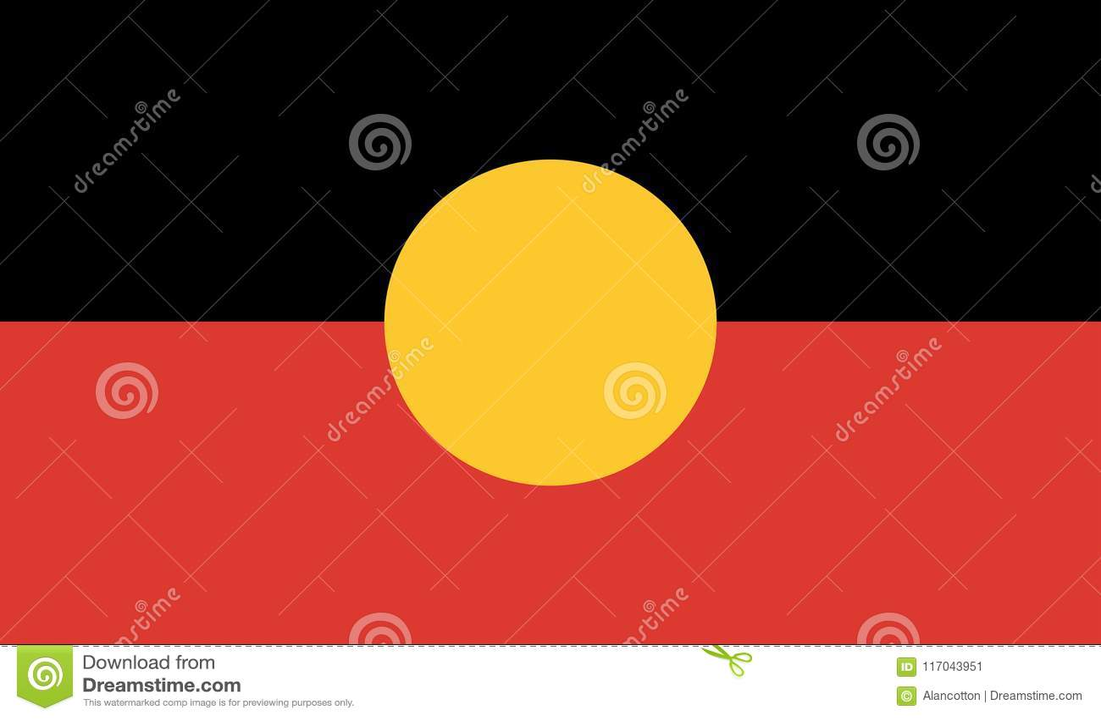 Australijska aborygen flaga