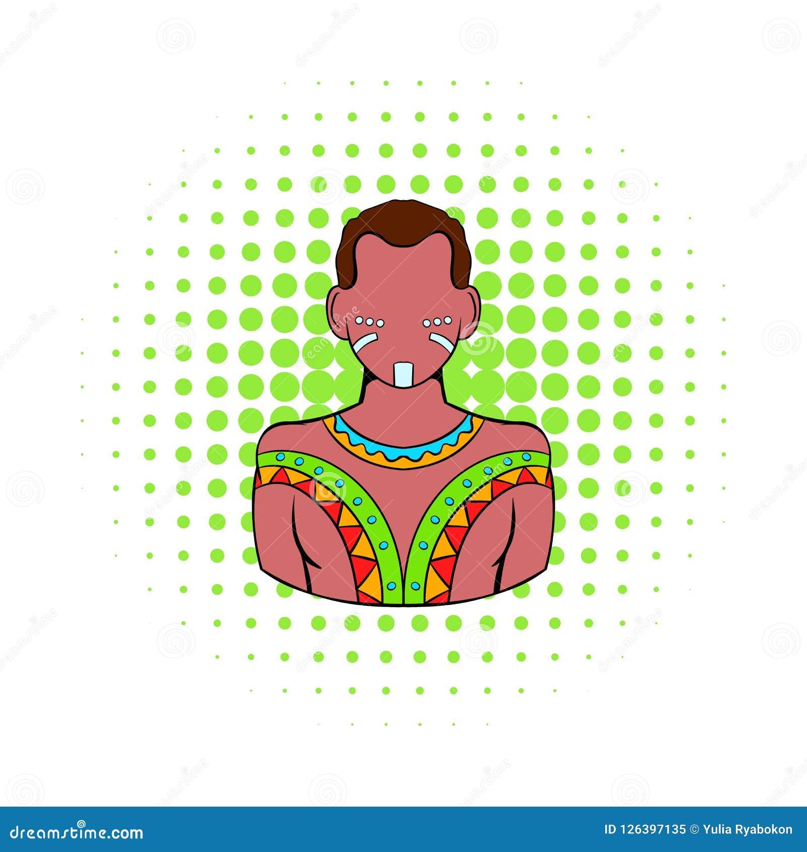 Australijska aborygen ikona, komiczka styl
