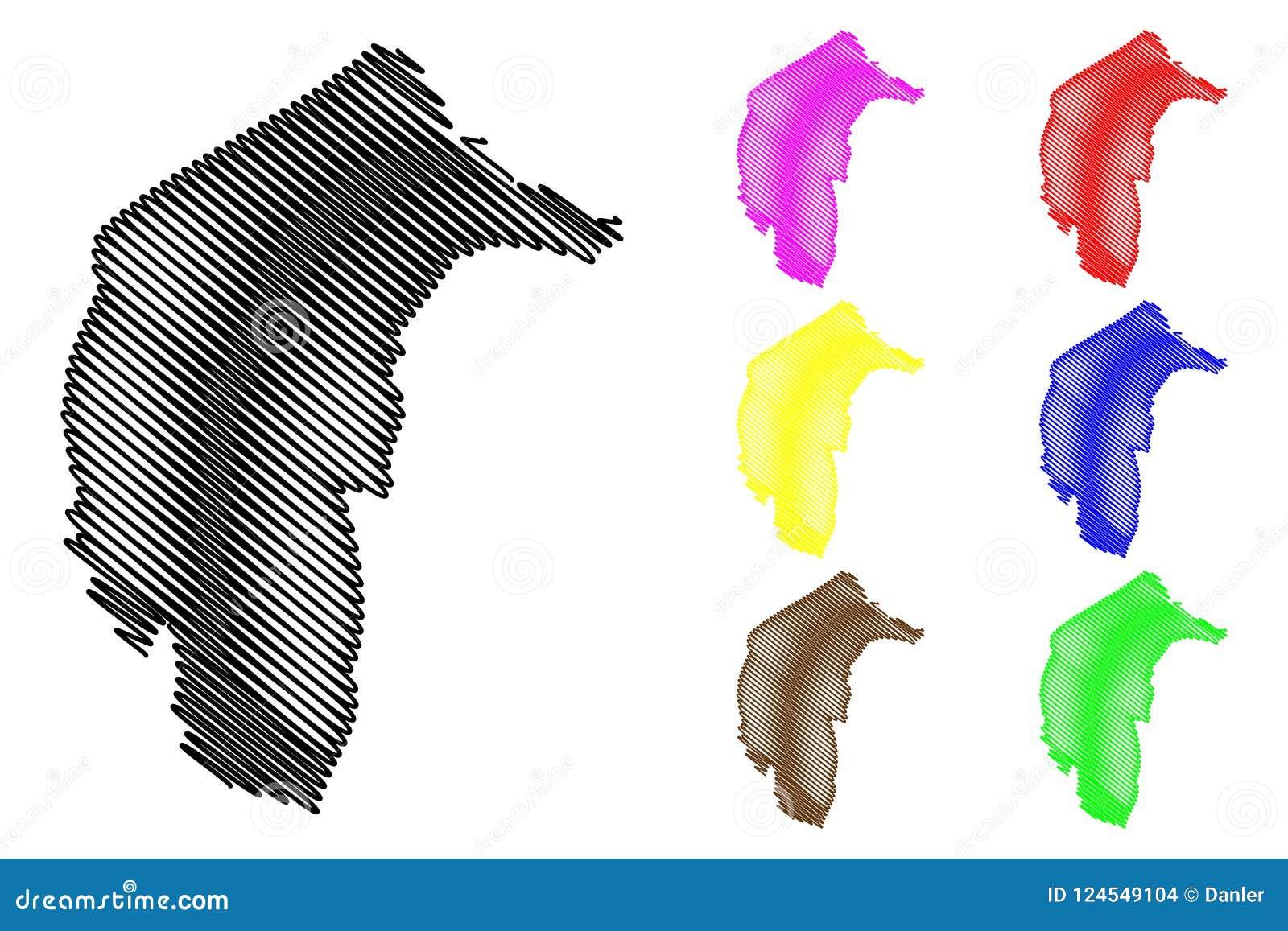Australische Hauptstadt-Gebietskartenvektor