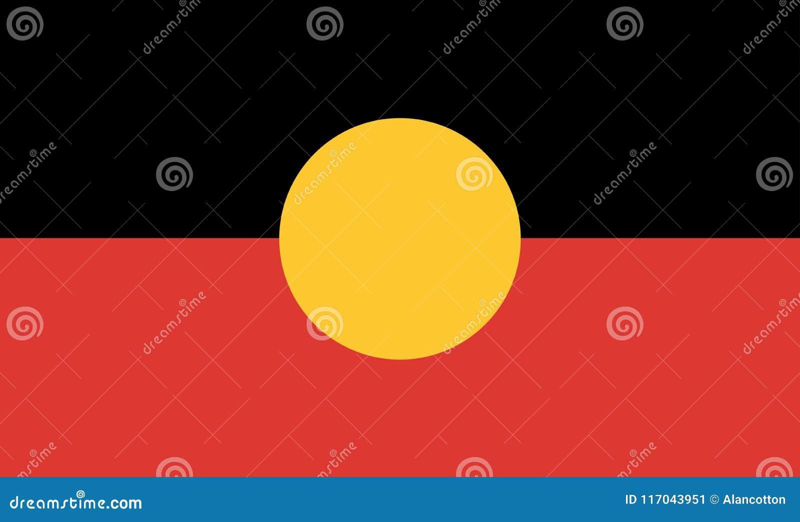 Australische Inheemse Vlag