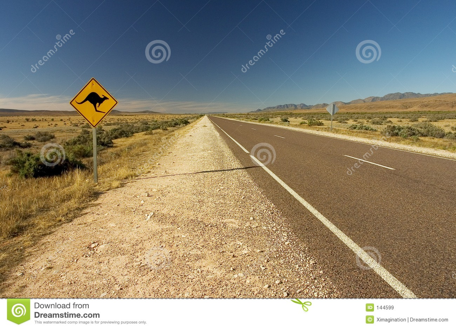 Australische Roadsign