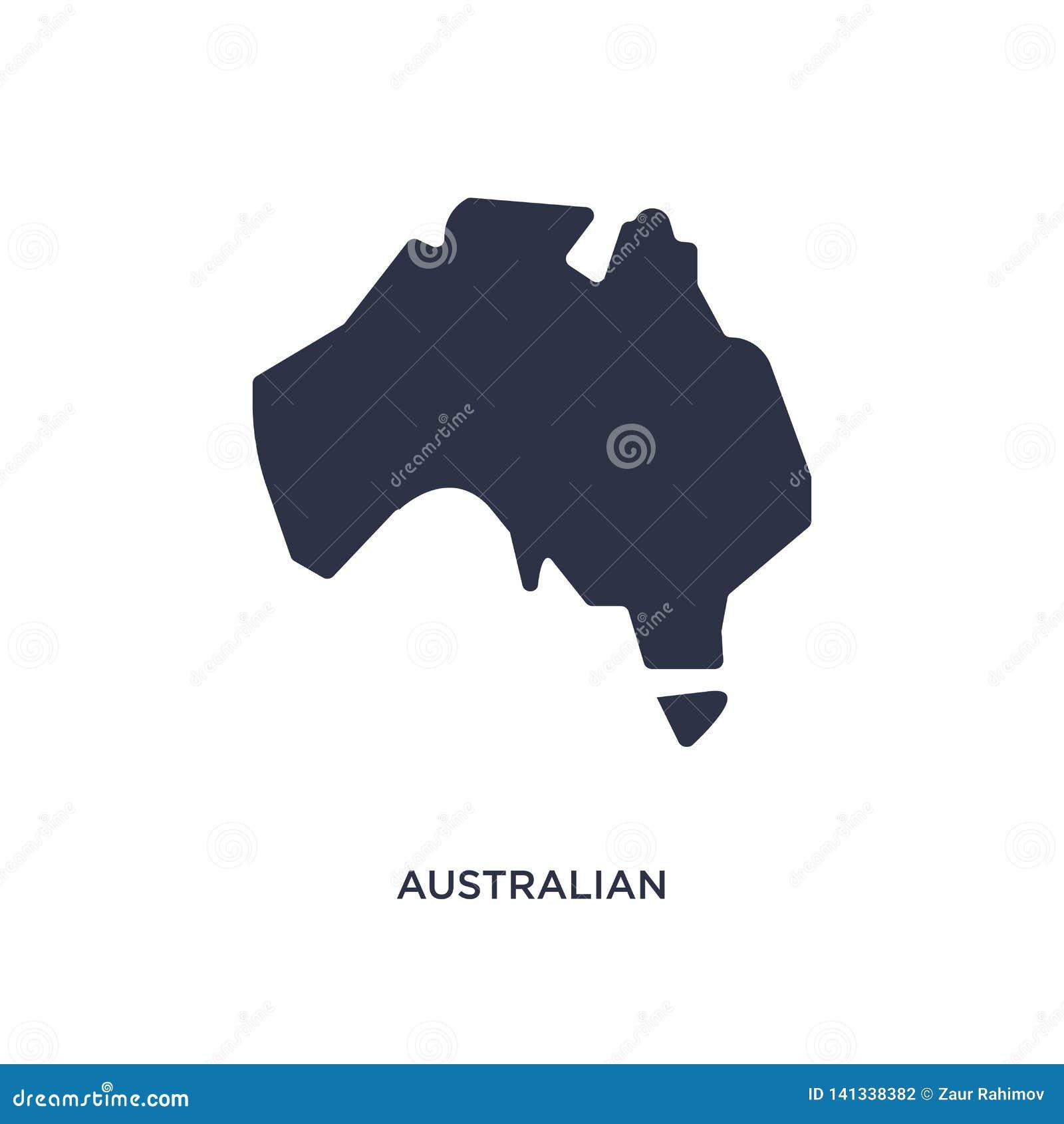 Australisk återhållsam symbol på vit bakgrund Enkel beståndsdelillustration från kulturbegrepp