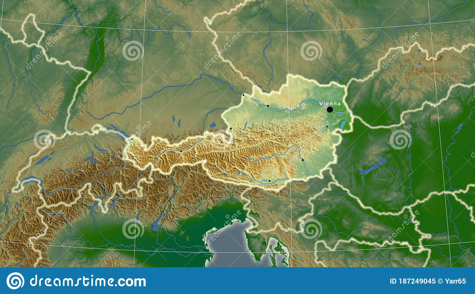 Picture of: Austria Physical Composition Borders Stock Illustration Illustration Of Surface Composition 187249045
