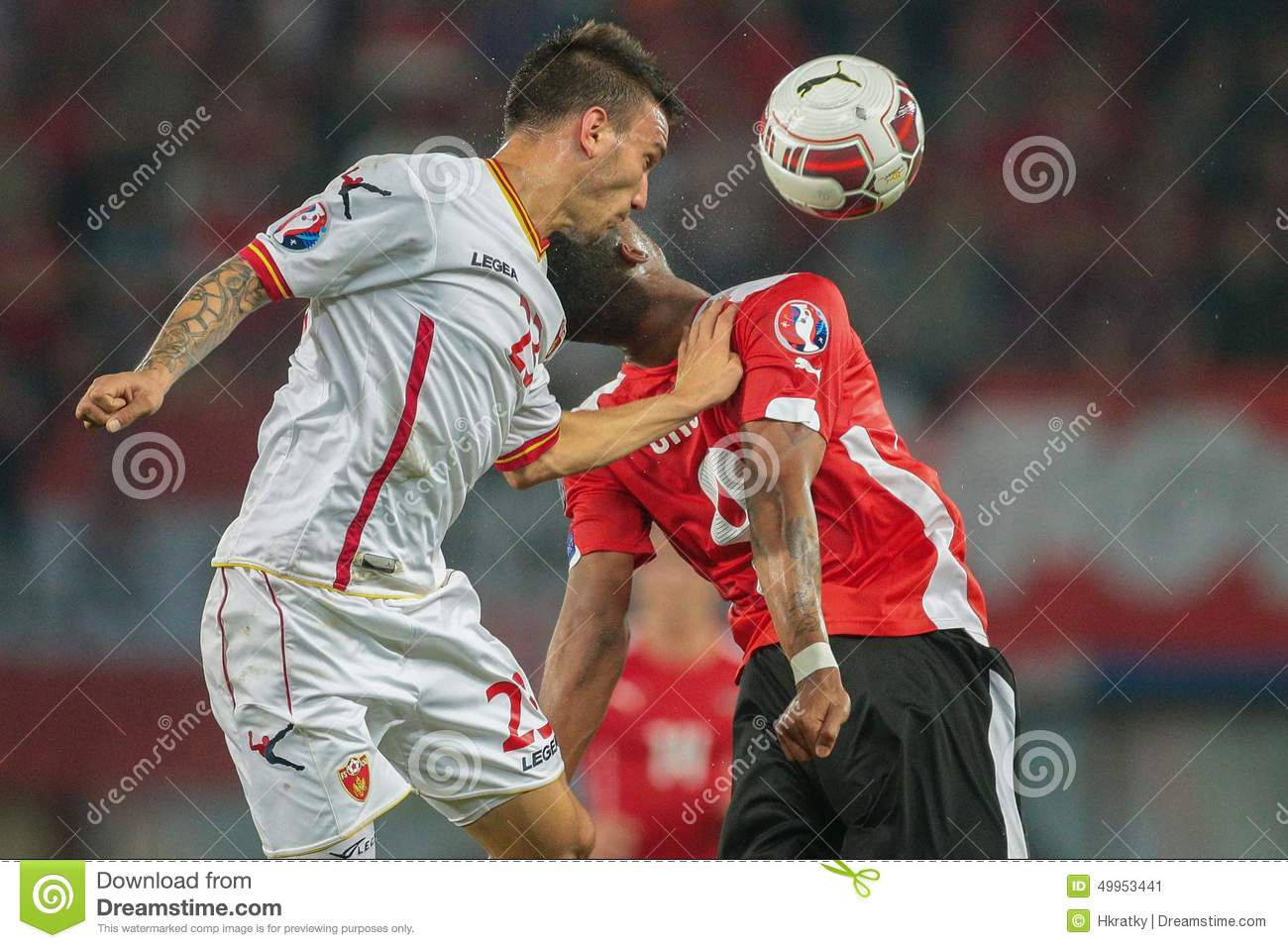 Marko Simic: Austria Vs. Montenegro Editorial Photo
